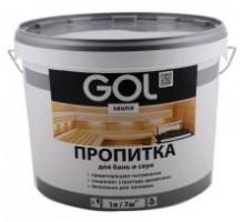 Пропитка для бань и саун GOL sauna бесцветный  3л  Sn.311-3