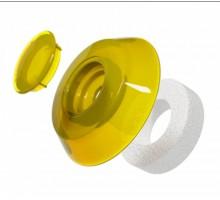 Термошайба для поликарбоната  4мм желтая