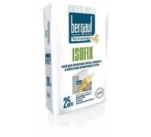 Клей для теплоизоляции БЕРГАУФ ISOFIX, 25кг универсальный зимний