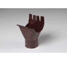 Воронка желоба ф125мм Металл Профиль  коричневый
