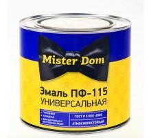 Эмаль ПФ-115 Mister Dom  желтая  0,8кг
