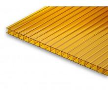 Сотовый поликарбонат  4мм 2,1х12м оранжевый УЛЬТРАПЛАСТ