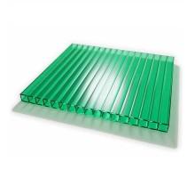 Сотовый поликарбонат  4мм 2,1х12м зеленый УЛЬТРАПЛАСТ