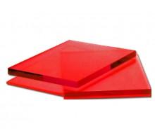 Монолитный поликарбонат красный  3мм 2,05х3,05м