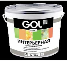 Краска акриловая Белая  6,5кг GOL expert интерьерная Exp.132.1-6,5