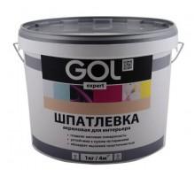 Шпатлевка акриловая Палиж GOL expert для внутренних работ  1,5кг ExpK.121-1.5