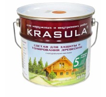 Пропитка для древесины KRASULA белый  3,3л