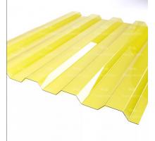 Профилированный поликарбонат Стандарт МП-20 1,15*2м Желтый
