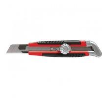Нож технический  25мм прорезиненная ручка винтовой фиксатор