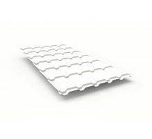 Металлочерепица Каскад сигнально-белый RAL 9003