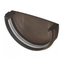 Заглушка водосточного желоба ф125мм VERAT  коричневый