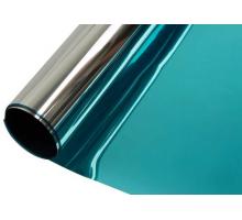 Пленка голубой/серебро солнцезащитная  42мкм 1,52x30м
