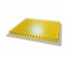 Сотовый поликарбонат  4мм 2,1х12м желтый УЛЬТРАПЛАСТ