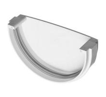 Заглушка водосточного желоба ф125мм VERAT  белый