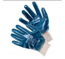 Перчатки химически стойкие нитриловые синие