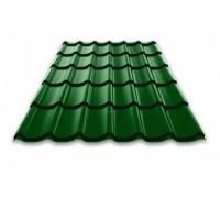 Металлочерепица Монтеррей зеленая листва RAL 6002